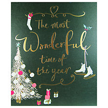 Buy John Lewis The Most Wonderful Time of the Year Christmas Card Online at johnlewis.com