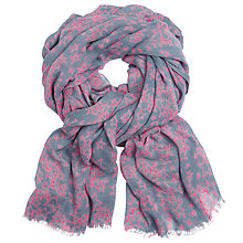 Buy John Lewis Hand Drawn Star Scarf, Grey/Neon Pink Online at johnlewis.com