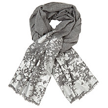 Buy John Lewis Metallic Paint Splash Wool Scarf, Grey/Silver Online at johnlewis.com