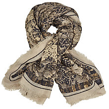 Buy John Lewis Stripe Cutout Floral Scarf, Multi Online at johnlewis.com