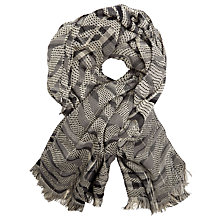 Buy John Lewis Stitch Zebra Scarf, Grey Online at johnlewis.com