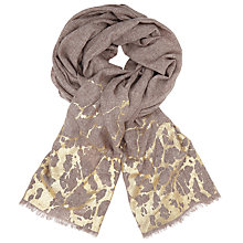Buy John Lewis Metallic Crackle Paint Wool Scarf, Gold/Taupe Online at johnlewis.com