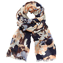 Buy John Lewis Modern Abstract Floral Scarf, Navy/Grey Online at johnlewis.com