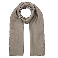 Buy Jigsaw Ombre Oversize Beaded Scarf, Grey Online at johnlewis.com
