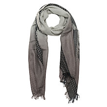 Buy French Connection Isa Dogtooth Scarf, Free Way Grey/Opal Grey Online at johnlewis.com