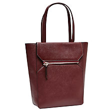 Buy French Connection Super Zip Sage Tote Bag, Zinfandel Online at johnlewis.com