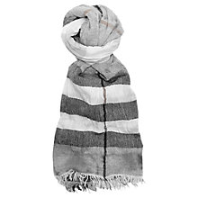 Buy French Connection Distressed Check Scarf, Nocturnal Wash Online at johnlewis.com