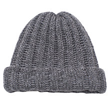 Buy French Connection Chunky Tuffy Beanie, Grey Marl Online at johnlewis.com