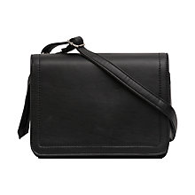 Buy French Connection Stab Stitch Blair Satchel, Black Online at johnlewis.com