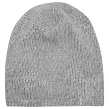Buy French Connection Cashmere Blend Beanie Hat, Light Grey Mel Online at johnlewis.com