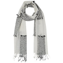Buy French Connection Hopscotch Scarf, Monochrome Online at johnlewis.com