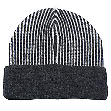 Buy French Connection Pocket Lisa Beanie, Dark Grey Marl Online at johnlewis.com