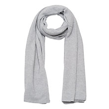 Buy French Connection Cashmere Blend Scarf, Light Grey Mel Online at johnlewis.com