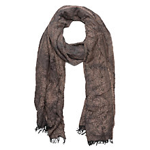 Buy French Connection Distressed Scarf, Indian Tan Mix Online at johnlewis.com