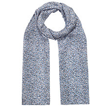 Buy Jigsaw Confetti Print Silk Scarf, Blue Online at johnlewis.com