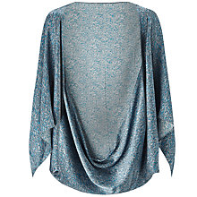 Buy Jigsaw Linear Leaf Silk Cape, Blue Online at johnlewis.com