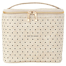Buy kate spade new york Polka Dot Lunch Tote, Cream and Black Online at johnlewis.com