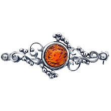 Buy Goldmajor Amber and Sterling Silver Brooch, Silver Online at johnlewis.com
