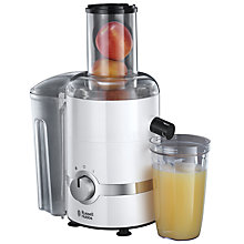 Buy Russell Hobbs 3-in-1 Juicer, White/Chrome Online at johnlewis.com