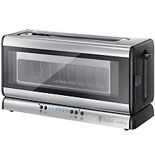 Buy Russell Hobbs Purity Glass Line Toaster, Stainless Steel Online at johnlewis.com