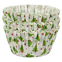 Buy John Lewis Christmas Cupcake Cases, Pack of 75 Online at johnlewis.com