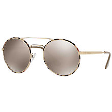 Buy Prada PR 51SS Round Sunglasses Online at johnlewis.com