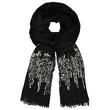Buy John Lewis Sequin Scarf, Black Online at johnlewis.com