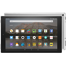 "Buy Amazon Fire HD 10 Tablet, Quad-core, Fire OS, 10.1"", Wi-Fi, 64GB Online at johnlewis.com"