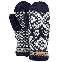 Buy Barts Log Cabin Mittens, One Size, Navy Online at johnlewis.com