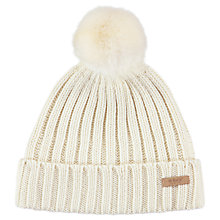 Buy Barts Linda Beanie, One Size, Cream Online at johnlewis.com