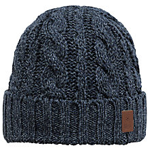 Buy Barts Twister Turnup Beanie, One Size, Navy Online at johnlewis.com