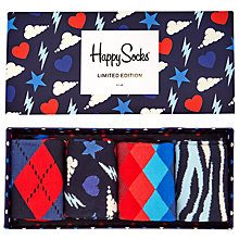 Buy Happy Socks Limited Edition Socks, One Size, Pack of 4, Multi Online at johnlewis.com