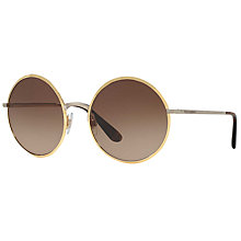 Buy Dolce & Gabbana DG2155 Oversize Round Sunglasses Online at johnlewis.com