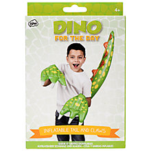 Buy NPW Children's Dinosaur For The Day Inflatable Claws and Tail Online at johnlewis.com