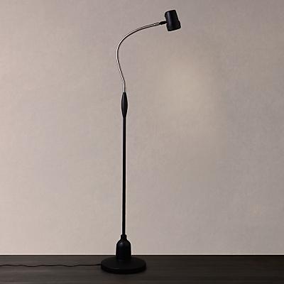 Serious Readers Alex Rechargeable Halogen Floor Lamp, Black / Nickel