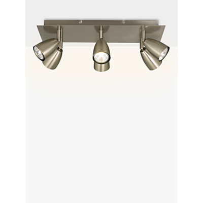 John Lewis Thea GU10 LED Spotlight, 6 Light Plate, Chrome