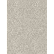 Buy Morris & Co Pure Poppy Wallpaper Online at johnlewis.com