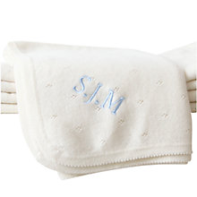 Buy My 1st Years Baby Personalised Cashmere Blanket, Ivory Online at johnlewis.com