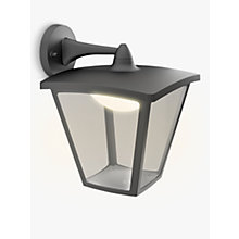 Buy Philips myGarden LED Outdoor Cottage Lantern Wall Light, Black Online at johnlewis.com