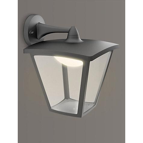 buy philips mygarden led outdoor cottage lantern wall light black john lewis. Black Bedroom Furniture Sets. Home Design Ideas