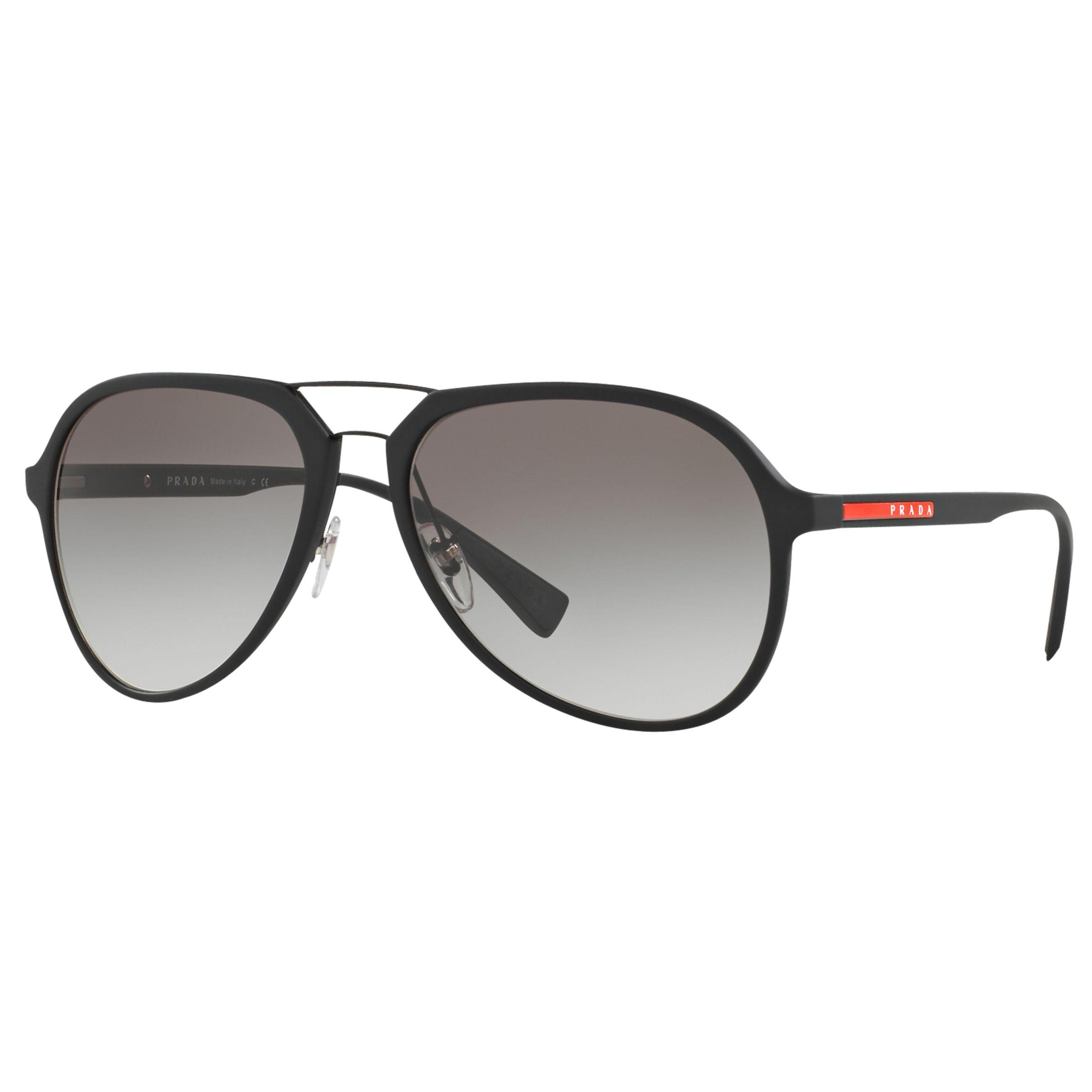 Prada Linea Rossa Prada Linea Rossa PS 05RS Aviator Sunglasses, Black/Grey Gradient