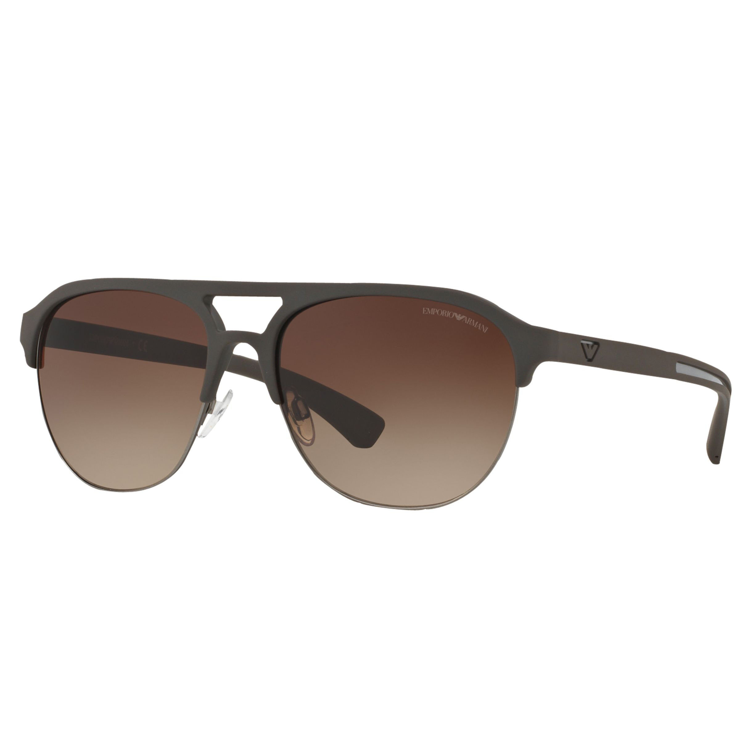 Half Frame Square Glasses : Buy Emporio Armani EA4077 Half Frame Square Sunglasses ...