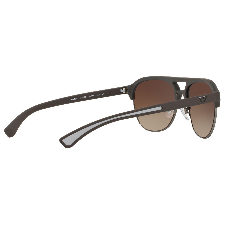 Buy Emporio Armani EA4077 Half Frame Square Sunglasses ...