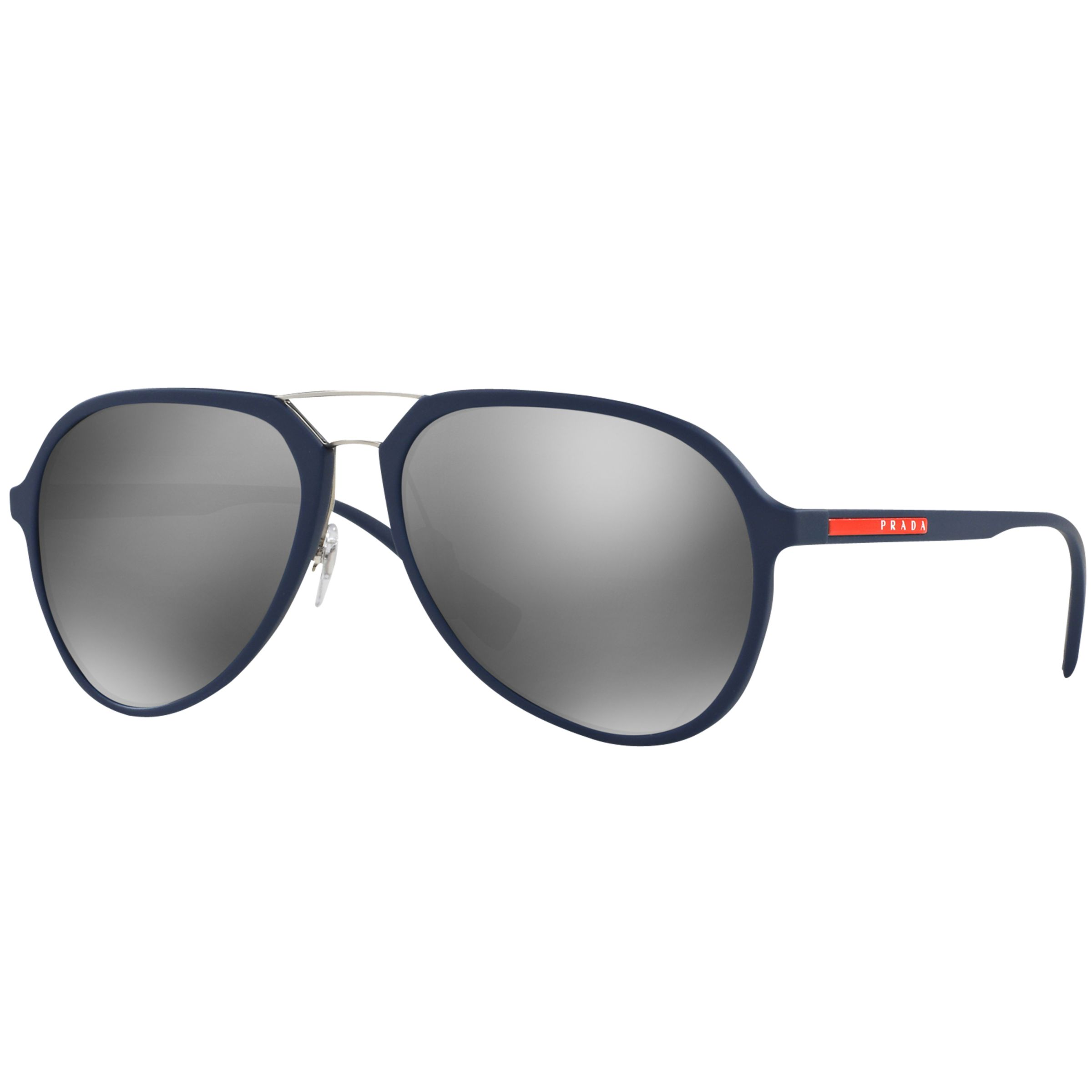 Prada Linea Rossa Prada Linea Rossa PR05RS Round Framed Sunglasses, Silver