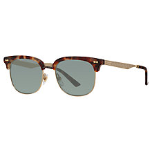 Buy Gucci GG 2273/S Half Frame Oval Sunglasses, Tortoise/Grey Online at johnlewis.com