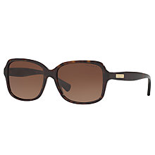 Buy Ralph Lauren RA5216 Polarised Square Sunglasses, Tortoise Online at johnlewis.com