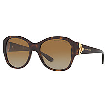 Buy Ralph Lauren RL8148 Polarised Square Sunglasses, Tortoise Online at johnlewis.com