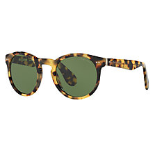 Buy Ralph Lauren RL8146 Oval Sunglasses, Light Havana Online at johnlewis.com
