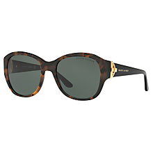 Buy Ralph Lauren RL8148 Square Sunglasses, Black/Tortoise Online at johnlewis.com