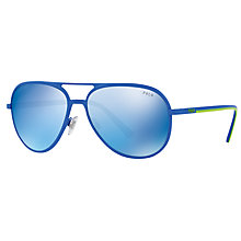 Buy Polo Ralph Lauren PH3102 Aviator Sunglasses Online at johnlewis.com